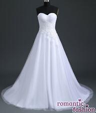 ?Brautkleid Hochzeitskleid Weiß Größe 34-54 zur Auswahl+NEU+SOFORT+W194?