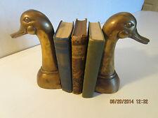 Pr Of, Solid Brass Mallard Duck Head Bookends