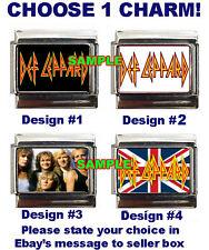 Def Leppard Logo #1 Custom Italian Charm Hysteria sharp Band Photo! British Flag