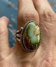 Navajo Linda Yazzie Royston Turquoise Sterling Ring Sz 8.25 ~Signed~