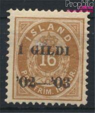 Island 29B mit Falz 1902 Aufdruckausgabe (8883172