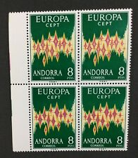 MOMEN: ANDORRA CEPT # 1972 MINT OG NH $600 BLOCK LOT #2920