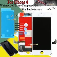 For iPhone 8 8G LCD Touch Screen Digitizer Display White + Waterproof Adhesive