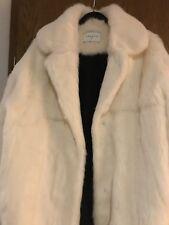 Sandro Paris Real Fur Rabbit Kaninchenfell Mantel Coat white Pelzmantel  teddy d6a0890a76