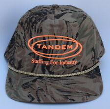 TANDEM Staffing For Industry One Size Fits All Snapback Camo Baseball Cap Hat