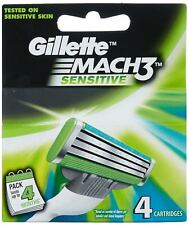 Gillette Mach 3 Sensitive Manual Shaving Razor Blades - 4s Pack | Free Shipping