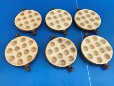 6 plats poelon à escargots 12 trous snails Emile Henry en grés ceramique N°4