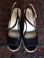 Chaussures Espadrilles compensées PRADA pointure 38 wedge shoes sandals sandales