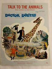 """Talk to the Animals"" Dr. Doolittle Rex Harrison 1967 Vintage Sheet Music"