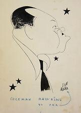 Caleman Hawkins par Jan MARA (1912-1992) Encre de chine Jazz music musique