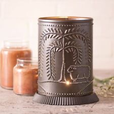 Willow and Sheep Electric Candle Warmer in Kettle Black Punched Tin