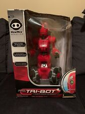 WowWee TRI-BOT Interactive Talking Companion Red Rolling Robot NEW IN BOX