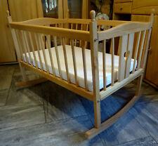 Pinolino große Kufen Babywiege Holz Stubenbett mit neuer Matratze