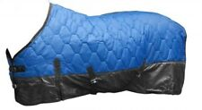 """82"""" BLUE 420 Denier Quilted Nylon Winter Horse Blanket by Showman!! NEW TACK!!"""
