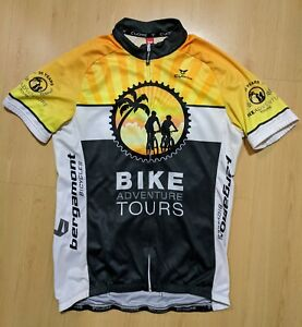 CUORE BIKE ADVENTURE TOURS CYCLING JERSEY MENS SIZE S
