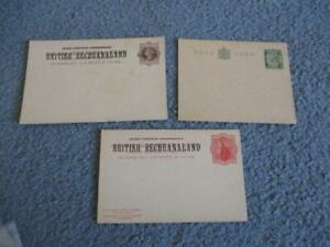 BECHUANALAND POSTAL STATIONARY COLLECTION, MINT, ENTIRES, 1800'S TO EARLY 1900'S