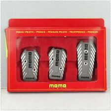 MOMO Car Racing Pedals Universal Aluminum Manual Brake Pedal Foot Pedal grey