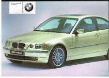 BMW 3-SERIES E46/5 316ti 325ti COMPACT ORIGINAL 2001 OWNERS INSTRUCTION HANDBOOK
