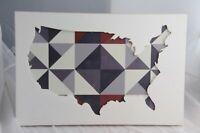 America USA Art Work Wood Cutout Wall Hanging Rustic Home Design Americana