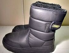 Khombu Size 5M Black Synthetic Boots Waterproof Pull On Winter Strap Shoe Women