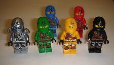 6 Lego Ninjago green lloyd , jay ,cole, skylor & zane titan Minifigures New 2015