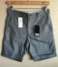 NWT $180 Oliver Spencer Cuffed Shorts - Chambray Blue 28W