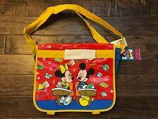 "Vintage (Disney) ""Mickey & Minnie Mouse"" Book (School) Bag With Handles, New!"