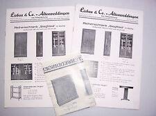 3 x Werbe Papiere Liebau & Co Altenweddingen bei Magdeburg Büromöbel 1935er ! (D