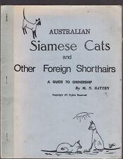 AUSTRALIAN SIAMESE CATS & OTHER FOREIGN SHORTHAIRS - BATTEN Australia cu