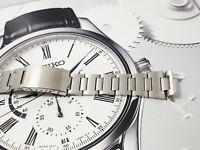 Replacement Bracelet Seiko 7016-5000 7016-5001 Monaco straight end pieces 19mm.