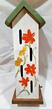 Large Butterfly House Handmade Custom Garden Décor Orange & Yellow Flowers