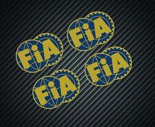 FIA STICKERS x4 F1 MOTORSPORT FERRARI McLAREN WILLIAMS LOTUS