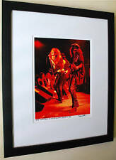 Guns N Roses Slash Axl Rose Rare 1st live at ROXY fine art photo signed 18/100