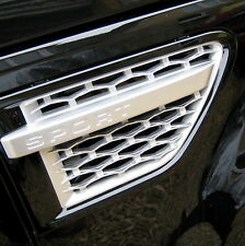 Black+Silver side wing vents for Range Rover Sport 2010 HSE Autobiography grille