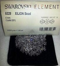 50 x Swarovski 5328 Xilion Clear 4mm Bicone Bead