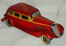 1939 OLD RARE VINTAGE HISTORICAL WINDING TIN PLATE TOY CAR KOSUGE JAPAN MADE