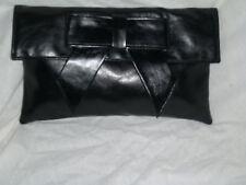 Negro Grande Bolsa De Embrague / Negro Bolso de Hombro