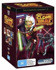 Star Wars - The Clone Wars - Animated Series : Season 1-5 (DVD, 2013, 22-Disc Set)