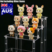 AU 3-tier Clear Acrylic Riser Display Shelf Removable Rack for Figures Jewelry