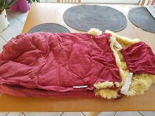 Kaiser LammfellFußSack KinderWagenFußsack bordeauxrot Länge ca.90cm