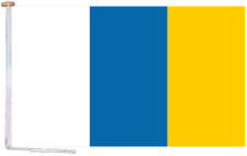 More details for canary islands spain flag with rope and toggle - various sizes