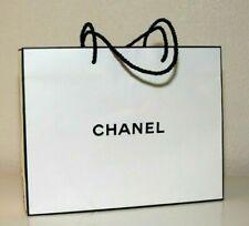 "CHANEL Shopping Paper Bag Gift Tote 10"" x 8"" x 3"" White"