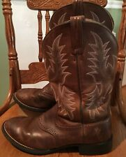 ARIAT Brown Leather Roper Cowboy Western Boots Womens Size 8 B Style 29427