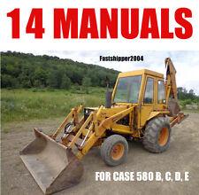 CASE 580B 580C 580D 580E BACKHOE LOADE TRACTOR 14 SERVICE MANUALS OPERATOR PARTS