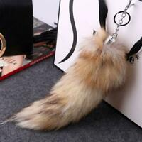 Gorgeous Soft Faux Fox Fur Tail Keychain Key Ring Handbag Bag Pendant P9S5