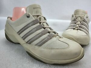 Ecco Womens Lace Up Leather / Mesh Trainer Shoes Size 38 EU 7-7.5 US