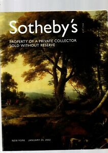 PROPERTY OF A PRIVATE COLLECTOR SOTHEBYS A CATALOGUE NEW YORK JAN 24TH 2002 EX