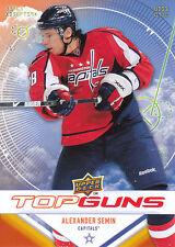 09/10 UPPER DECK TOP GUNS #TG1 ALEXANDER SEMIN CAPITALS *9049