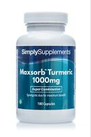 Maxsorb Turmeric 1000mg * 180 Capsules * Bioperine® Black Pepper Extract