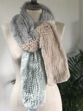 Beautiful Soft Pastel Tones Real Fur Scarf NWT